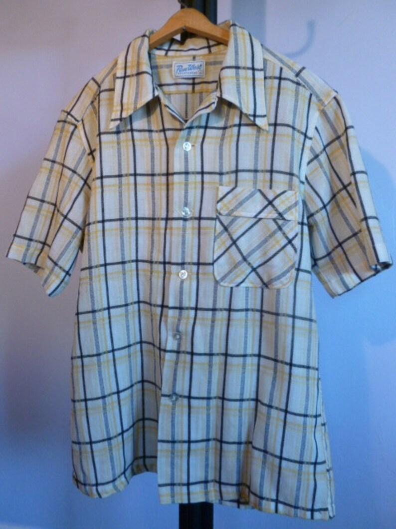 af4f452db57 Vintage Pendleton Pen West Men s Size L Short Sleeve Button Up Shirt