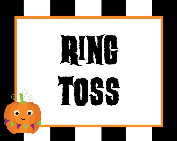 image relating to Halloween Signs Printable known as Printable Halloween Carnival Signs or symptoms, Opt for Your Private Video games, Electronic Documents, Preset OF 5, Halloween Carnival Topic, 8x10