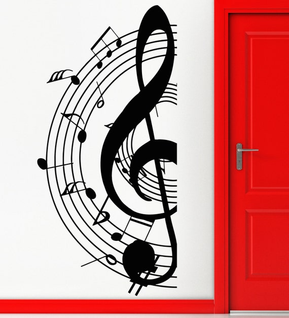 Items similar to Wall Stickers Music Notes for Living Room ...