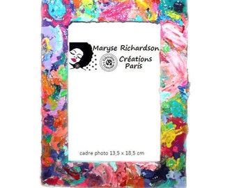 Frame 13.5 x 18.5 cm style spychedelique color palette