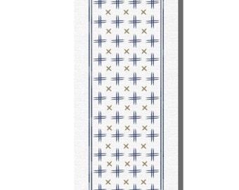 The Saeki - yoga mat bridesmaids gift idea for a health nut health and well being fitness mat kasuri geometric print