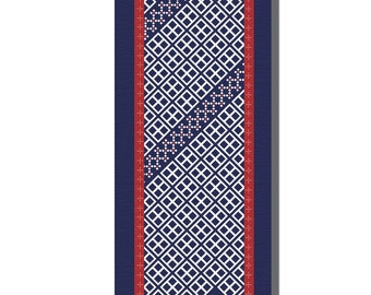 The Reiko - yoga mat bridesmaids gift idea for a health nut health and well being fitness mat kasuri geometric print