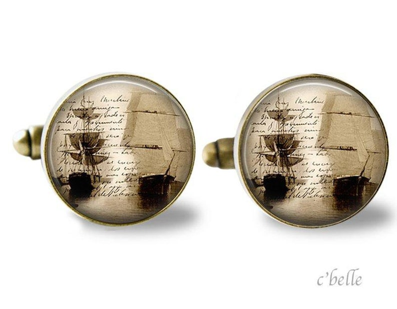 Cuff Buttons Sailing ship