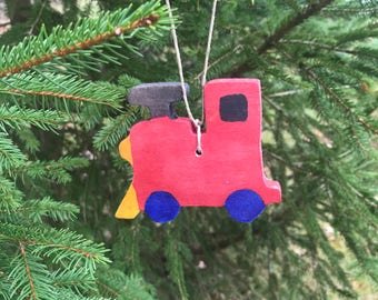 Train Ornament, Kid's Ornament, Red Train