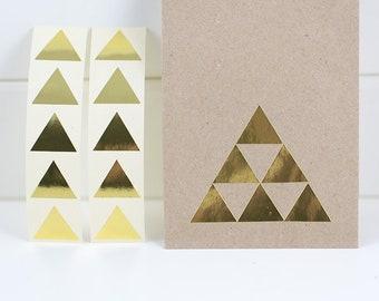 20 Auflkeber - Dreieck - gold