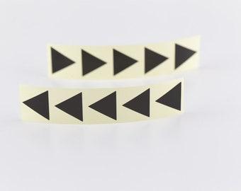 20 Aufkleber - Dreieck - schwarz