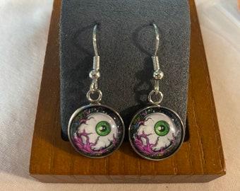 Creepy Halloween Eyeball Earrings