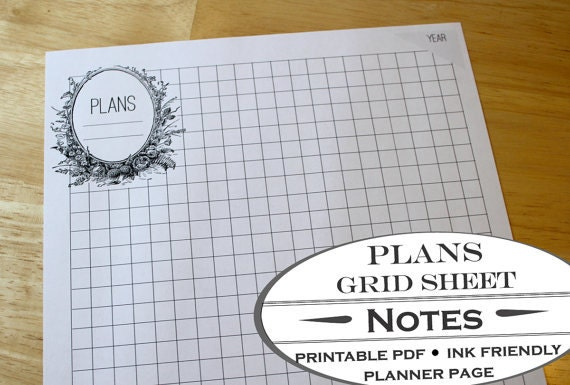 Garden Bed Planner Worksheet And Grid Paper Printable
