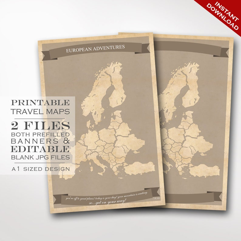 Europe Travel Maps  Printable European Union Travel Map image 0