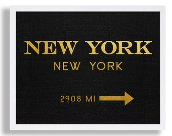 New york city print typography art print gift for him fashion etsy new york city print typography art print gift for him fashion art nyc art marfa sign like in gossip print black and gold print reheart Gallery
