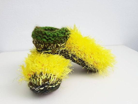 carpetslippers hand knitted Christmas gift house socks slippers babouche