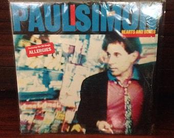 Paul Simon - Hearts Bones, Classic Rock Record, Vintage Vinyl Record, Vintage Rock, Rock Album, Folk Rock Music, Soft Rock Music, Folk Rock