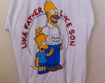 90s Bart Simpson, Simpsons, The Simpsons, Homer Simpson, 90s Grunge, Simpsons Shirt, Bart Simpson Shirt, Vintage Graphic Tee, Simpson Tshirt