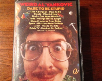 Weird Al Yankovic - Dare to be Stupid Vintage Audio Cassette Tape, Comedy Cassette Tape, 80s Music Cassette Tape, Weird Al Music