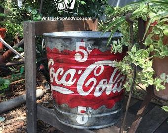 Vintage Rustic Galvanized Metal Bucket, Vintage Coca Cola Decor, Coca Cola  Bathroom Decor, Coca Cola Home Decor, Coca Cola Kitchen Decor