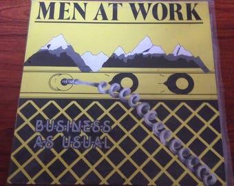 "Men at Work - Business as Usual, Vintage Vinyl Record, Vinyl Records Sale, 80's Band, 12"" Vinyl, 12"" Record, 12"" LP, 80s Vinyl"