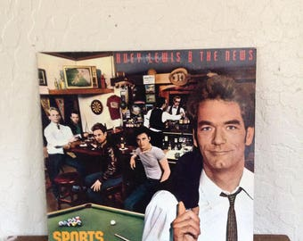 Huey Lewis and the News - Sports 80s Vintage Vinyl Record Album LP, Back to the Future Movie Soundtrack, Rock Vinyl Record, 80s Vinyl Record