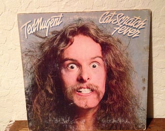 Ted Nugent - Cat Scratch Fever, Vintage Vinyl Records, Vintage Records, Rock Vinyl, Rock Records, Record Albums, Vinyl Lp, 70s Records