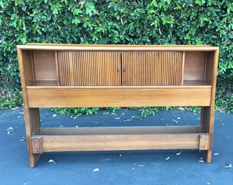 Mid Century Modern Full Headboard Parallel Collection by Barney Flagg for Drexel, MCM Sculpted Full Headboard, Danish Modern Headboard Bed