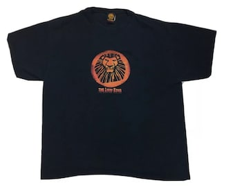 Vintage Disney The Lion King The Broadway Musical Official Merch Black Short Sleeve T-Shirt, Lion King Tee, Lion King Shirt, Broadway Merch