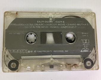 Easy-E - Eazy-Duz-It, Vintage Cassette Tape, 90s Hip Hop Cassette Tape, 90s Rap Cassette, 90s Rap Tape, 90's Hip Hop, Easy-E Cassette Tape