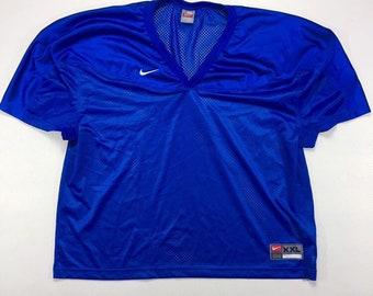 Vintage NIKE Royal Blue Football Jersey xxl, Vintage Blue Mesh Scrimmage Jersey xxl, Vintage NIKE Grey Tag Jersey xxl, Vintage Nike Jersey