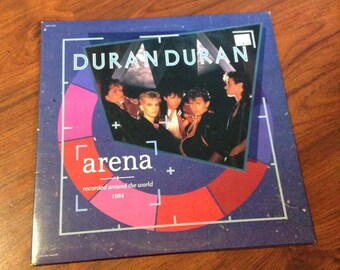 "Duran Duran - Arena Live Vintage 12"" Vinyl Record Album LP 33 RPM, Live Vinyl Record, 80's Vinyl Record, New Wave Vinyl Record, Synth-Pop"