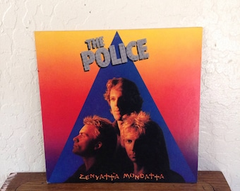 "The Police - Zenyatta Mondatta Vintage 12"" Vinyl Record Album LP 33 RPM, 80s Vinyl Record, Rock Vinyl Record Album, New Wave Vinyl Record LP"