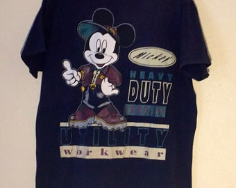Vintage 90s Blue, Hunter Green, Maroon Mickey Mouse T Shirt, Vintage Streetwear, Oversized Large Shirt, 90s Hip Hop, 90s Fashion, Big Logo