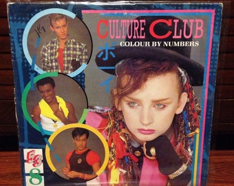 "Culture Club - Colour by Numbers Vintage Vinyl Record, Vinyl Records Sale, Boy George, 12"" Vinyl, 12"" Record, 12"" LP, 80s Vinyl Record"