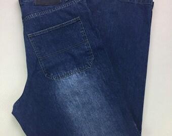 Y2K Vintage Southpole Relaxed Baggy Medium Blue Wash Denim Jeans 34, Hip Hop Jeans, Vintage Streetwear Jeans, Y2k Vintage Denim Jeans 34