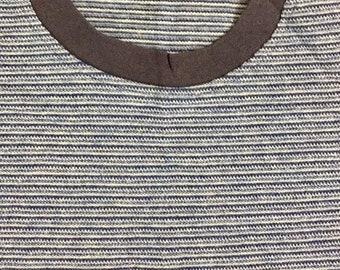 90s Vintage Horizontal Striped Tee Shirt,  Mens Vintage Blue Striped Shirt, Womens Vintage Blue Striped Shirt, 90s Vintage Fashion, 90s Tee