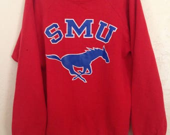 80s Vintage SMU college football Champion Sweatshirt xl, 80s football, Vintage NCAA Football, Vintage Champion, Vintage SMU Football Sweater