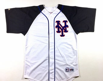 Rare Vintage New York METS Batting Practice Jersey MLB Majestic Made In USA Size Medium