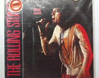 The Rolling Stones - The Rolling Stones Vinyl Record  Sealed German Import with Mick Jagger Poster, The Stones 12 inch  33 Rpm Album LP