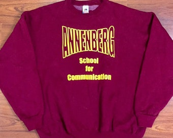 90s Vintage University of Southern California Annenberg School for Communication Crewneck Pullover Sweatshirt XXL, Vintage USC Sweatshirt