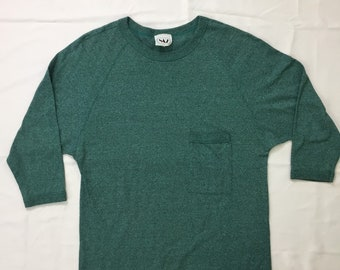 90s Vintage Green Black Speckled Tee Shirt,  Mens Vintage Green Shirt, Womens Vintage Green Shirt, 90s Vintage Fashion, 90s Tshirt
