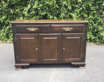Vintage Farmhouse Style Buffet Server Sideboard Console, Vintage Farmhouse Sideboard, Rustic Farmhouse Media Console, Farmhouse Cabinet