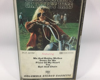 Janis Joplin - Janis Joplins Greatest Hits Vintage Cassette Tape PCT-32168 1972, Rock Cassette Tape, 60s Cassette Tape, Blues Cassette Tape