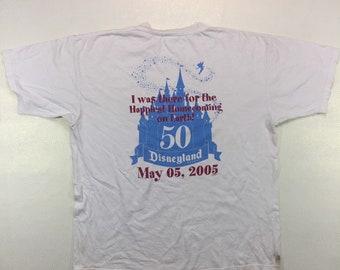 Y2K Vintage Disneyland 50th Anniversary Commemorative Tee Shirt 2005 XL, Vintage Disneyland Shirt, Disneyland Souvenir, Vintage Disneyland T