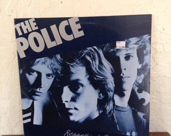 "The Police - Reggatta De Blanc Vintage 12"" Vinyl Record Album LP 33 RPM, Sting Vinyl Record Album LP, 80s New Wave Vinyl Record Album Lp"