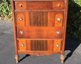 Antique Farmhouse Dresser, Vintage Bedroom Dresser, Antique Chest of Drawers, High Boy Dresser, Tall Chest of Drawers, Project Dresser