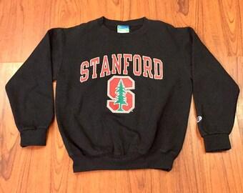 Vintage Champion Stanford University Logo Crewneck Pullover Sweatshirt XS, Vintage Stanford Sweatshirt, Vintage Champion Pullover X Small