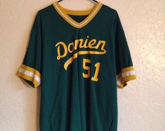 80s Vintage Damien High School Baseball Jersey, Mark Mcguire Alma Mater, Catholic High School, Vintage Baseball Jersey, Athletics Baseball