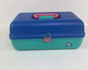90s Vintage Caboodles, Caboodles Storage Case, Caboodles Makeup Organizer, Makeup Storage, Makeup Case, Train Case, Storage Organizing Box