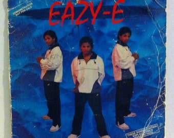RARE Eazy E Vinyl Record Sleeve Signed by all of NWA, Dr Dre, Ice Cube, Autograph, Straight Outta Compton, 90s Gangasta Rap, 90s Hip Hop