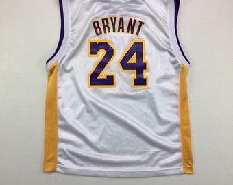 Y2K Vintage Los Angeles Lakers Kobe Bryant #24 NBA Adidas Jersey, Y2K Vintage Los Angeles Lakers Sunday White Kobe Jersey YL