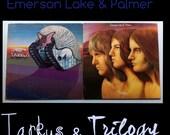 Emerson Lake Palmer-Tarkus Vinyl Record and Trilogy Vinyl Record, Classic Rock Vinyl Record Lot, Progressive Rock Vinyl Record Lot