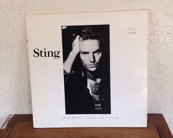 "Sting - Nothing Like the Sun 12"" Vintage Vinyl Record Album LP 33 RPM, Sting Vinyl Record, Sting Album LP, 80s Record, Rock Record, Pop Rock"