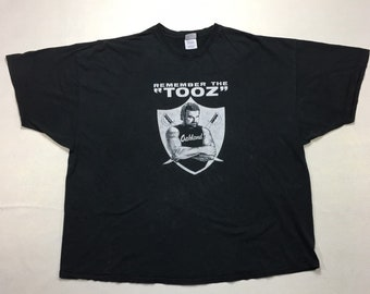 "Vintage Oakland Raiders ""Remember the Tooz"" Dark Raider Graphic Tee Shirt 5XL, John ""the Tooz"" Matuszak Oakland Raiders Tee Shirt 5Xl"